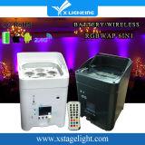 電池との無線DMXの送信機6PCS LEDの同価RGBWA+UV