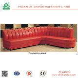 Madeira sólida seccional luxuosa com sofá de canto de tecido