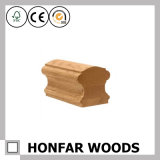 Balustrade d'escalier de chêne rouge en bois solide de matériau de construction