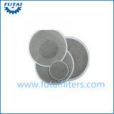 Disco del filtro de la tela cruzada del acero inoxidable para la máquina del hilado