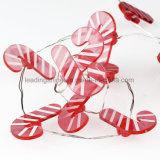 Zuckerstange-geformte Weihnachtsbaum-Dekoration-batteriebetriebene feenhaftes Licht-Zeichenkette