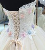 2017 de Nieuwe Kleding van het Huwelijk van de Toga van de Bal van de Stijl Zachte Met de hand gemaakte met Kleurrijke Bloemen