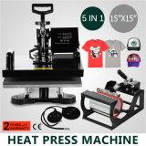 """5in 1 15 """" машина сублимации тенниски давления передачи тепла x 15 """" (38 x 38cm)"""