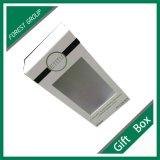 Cadre de bijou blanc fait sur commande de cadeau avec le guichet de PVC
