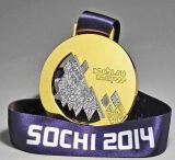 Medalla libre de Sochi del oro del bronce de la plata del molde de la venta caliente