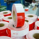 """6 """"赤6 """"の白い手段のConspicuityの点C2反射テープ"""