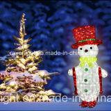 Rue de Noël de motif de DEL célébrant des lumières de décoration de flocon de neige de vacances