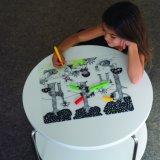 Pädagogisches Spielzeug Wischen-weg BPA freie Silikon Placemat Farbton-Matte mit Markierungen ab