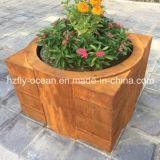 Potenciômetro de flor de aço de Fo-9c56 Corten para a decoração ao ar livre