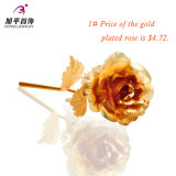 Fiore dorato della Rosa di modo in regali di colore dell'oro 24k per il giorno della madre