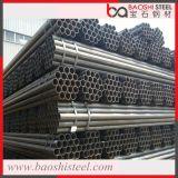 Tubo de acero redondo del negro de carbón de Q235B para Constraction