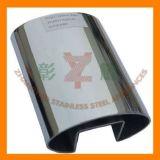 Tubo ovale dell'acciaio inossidabile della scanalatura per il corrimano
