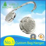 Bolso del metal de la tapa de vector de la manera de la promoción del gancho de leva de encargo del monedero/percha plegables del bolso para el regalo promocional