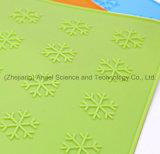 Estera de vector antideslizante del silicón del copo de nieve para el día de fiesta Sm40