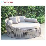 H -中国の屋外の家具のPEの藤のビーチチェア