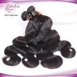 Cabelo de venda quente que tece o cabelo humano ondulado peruano do Virgin