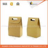 El ambiente recicla las bolsas de papel de papel de Brown, bolsa de papel de Kraft