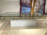 Premier Tableau acrylique en verre de mariage avec la base peinte blanche de fer