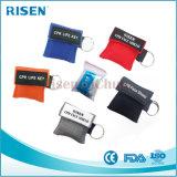 Einwegventil-Miniwegwerfgesichts-Schild CPR-Schablone Keychain