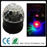 El efecto del disco LED de la barra enciende la bola de giro mágica ligera del LED