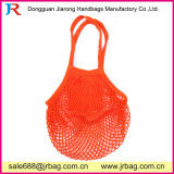 Sacchetto netto di piegatura della maglia solida riutilizzabile della frutta fatto nell'arancio del cotone