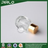 os mini frascos de perfume 5ml de vidro luxuosos moldaram frascos de vidro pequenos da fragrância com tampão do ouro