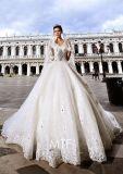 Vestidos de casamento nupciais luxuosos Z1029 dos cristais dos vestidos de esfera do querido