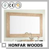 O banheiro da madeira contínua de Brown da esteira espelha o frame
