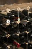 15 botellas Listo-a-Ensamblan el pino natural del estante de madera del vino