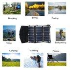 Горячие сбывания портативное водоустойчивое 15W складывая солнечный заряжатель