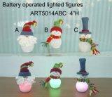 산타클로스와 Sowman 크리스마스 불빛, 3 Asst 높은 쪽으로 점화하는 LED