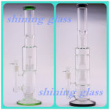Höheres und buntes rauchendes Wasser-Glasrohr mit UFO-und Honig-Kamm Perc