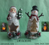 Muebles del arte de la decoración del sostenedor de vela de Navidad