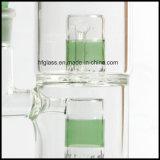 Neue 10 Zoll Toro-Glaswasser-Rohr-mit zwei Perc 14.4mm in der gemeinsamen Größe für das Rauchen