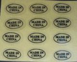 Étiquettes transparentes faites sur commande personnelles de qualité