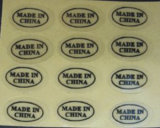 Persoonlijke Naar maat gemaakte Transparante Etiketten voor Auto