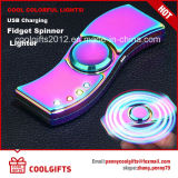 Nouveau design LED coloré électrique USB Charged Hand Spinner Briquet