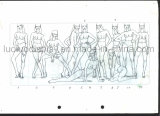Desenhos de esboço da origem para o desenvolvimento do Mannequin