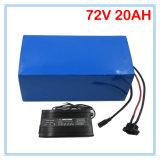 Bateria recarregável 72V Ebike 2000W Bateria de lítio 72V 20ah Use 3.7V 5ah 26650 Cell 30A BMS 2A Carregador Melhor pacote
