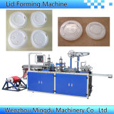 Máquina automática plástica de Thermoforming da tampa/tampa