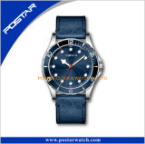 Montre-bracelet en cuir de bande de Rolexable de quartz à extrémité élevé du chronographe 2016