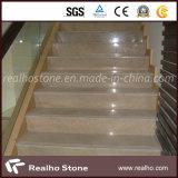 Египетский светлый солнечный желтый цвет золота мраморизует цену плиток для шага проступи лестницы