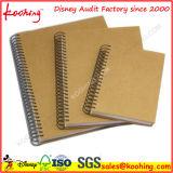 A4/A5 venden al por mayor los cuadernos espirales plásticos duros coloreados insignia modificados para requisitos particulares del anillo doble de la cubierta de los PP/los diarios encuadernados para la escuela