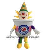 最もよい品質のアイスクリームの道化師のマスコットの衣裳か習慣の衣裳