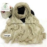 Krepp, der gestickte Paisley-Dame Fashion Silk Scarf färbt