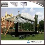 Сверхмощная алюминиевая ферменная конструкция крыши ферменной конструкции освещения ферменной конструкции этапа для напольных случаев