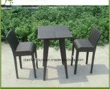 여가 등나무 가구 옥외 안뜰 고리 버들 세공 바 테이블 및 의자