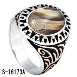 Nieuw Zilver 925 van de Ring van de Juwelen van de Manier van het Ontwerp voor de Mens