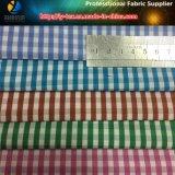 Polyester+Cottonのワイシャツのためのヤーンによって染められる小切手ファブリック