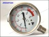 """2.5 """" 액체에 의하여 채워지는 압력 계기 또는 압력계 바닥 유형"""